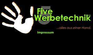 Five Werbetechnik Logo Impressum