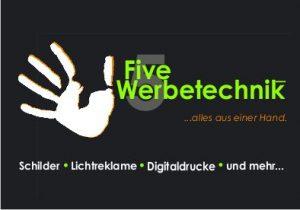 Homepage five-werbetechnik Startbildschirm klein