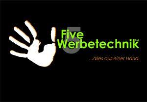 Hompage five-werbetechnik Startbildschirm