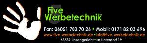Logo five-werbetechnik mit Adresse 935x273 Pixel
