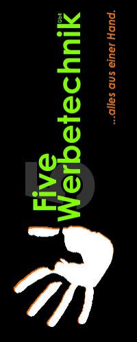 Five-Werbetechnik Banner hochkant